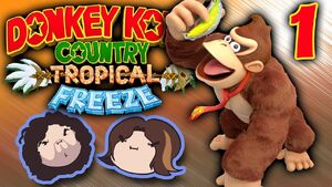 Donkey Kong Country Tropical Freeze Part 1 - Banana Party