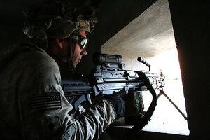 Providing security for a reconnaissance patrol