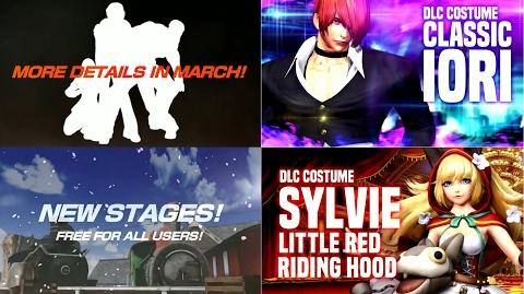 KOF XIV - Upcoming DLC Characters, Stages & Costumes in 2017!