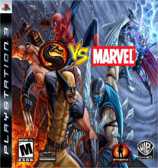 Made Video Game Covers MKvsMarvel