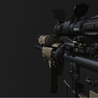 The first person view of the M4A1