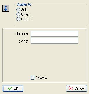 Set Gravity window