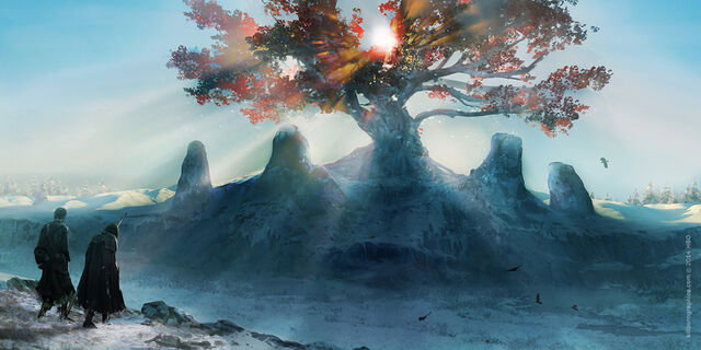 File:Weirwood Tree scene - mood sketch (The Art of Simon Robert).jpg