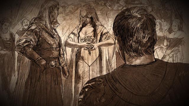 File:Rhaegar Targaryen Elia Martell marriage.jpg