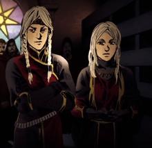Visenya and Rhaenys Targaryen