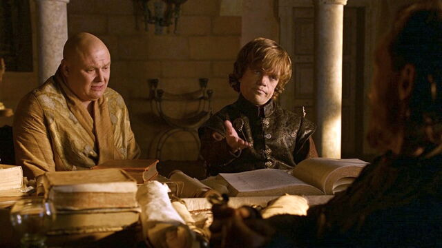 File:Tyrion, Varys and Bronn.jpg