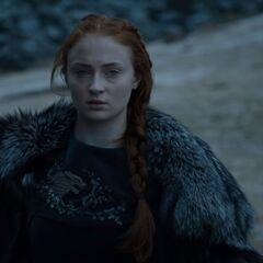 Sansa riding in Season 6.