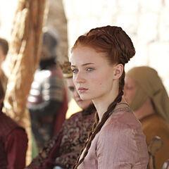 Sansa at Joffrey's name day tourney in