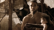 Drogo and Rhaego 2x10