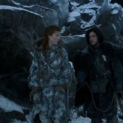 Jon keeps Ygritte on a short leash in