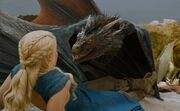 Drogon snarls at his mom