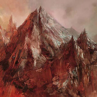 The dormant Red Mountain in present times.