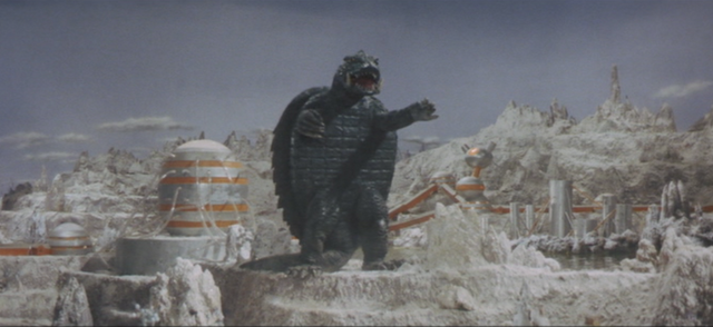 File:Gamera - 5 - vs Guiron - 28 - Gamera is ready to go in the water.png