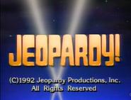 Jeopardy! 1992 copyright card