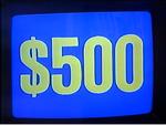 Jeopardy! 1984-1991 $500 figure