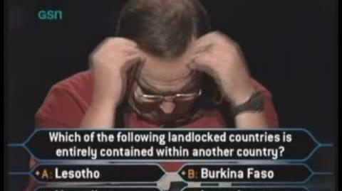 Kim Hunt's Million Dollar Question - Who Wants to be a Millionaire Classic Format