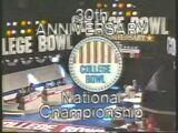 1984 College Bowl National Championship (NBC)