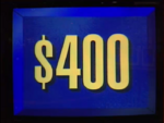 Jeopardy! first bordered $400 dollar figure