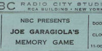 Joe Garagiola's Memory Game