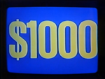 Jeopardy! 1984-1991 $1,000 figure