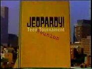 Jeopardy! Season 15 Teen Tournament Reunion Title Card