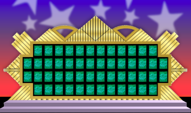 Image wheel of fortune puzzle board 5 game shows for Wheel of fortune board template