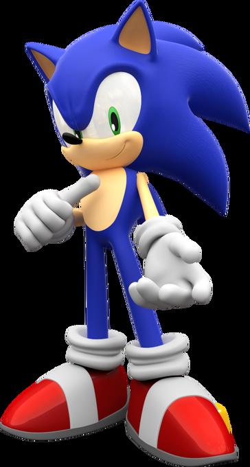 Sonic the hedgehog render by mintenndo-d6xs5kr