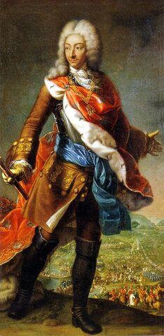 File:Maria Giovanna Battista Clementi, La Clementina, Portrait of Victor Amadeus II of Savoy, during the siege of Turin (1706), Reggia di Venaria (from Castle of Racconigi).jpg