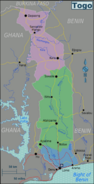 Map - Togo