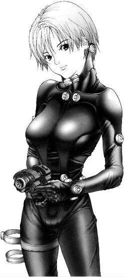 Kishimoto in Gantz suit