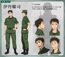 Itami's anime appearance