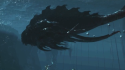 Leviathan under water