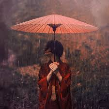 File:Japanese woman in the rain.jpg