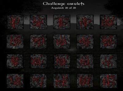 All Challenge Amulets