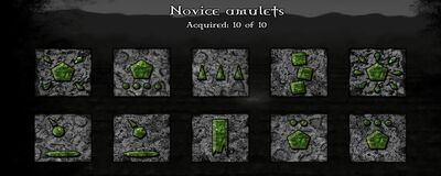 Gemcraft Labyrinth Novice Amulets