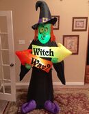 Gemmy Prototype Halloween Witch Way Inflatable Airblown