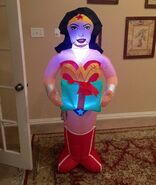 Gemmy Prototype Christmas Wonder Woman Inflatable Airblown