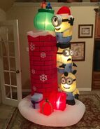 Gemmy Prototype Christmas Minions Inflatable Airblown