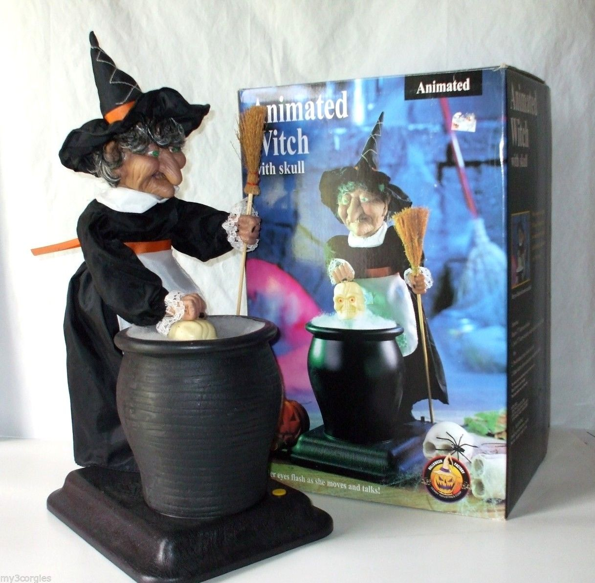 animated witch with skull in pot gemmy wiki fandom powered by wikia - Www Gemmy Com Halloween