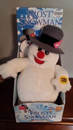 Gemmy musical frosty the snowman doll