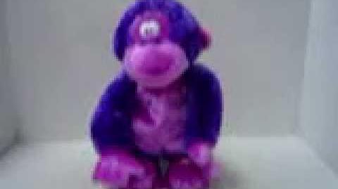 Gemmy singing purple funky monkey
