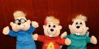 Alvin and the chipmunks mini plushies