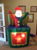 Gemmy inflatable snowman jack in the box