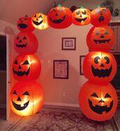 Gemmy Prototype Halloween Pumpkin Archway Inflatable Airblown