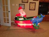 Gemmy inflatable santa fishing