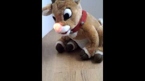 Gemmy Animatronic Rudolph the Red Nosed Reindeer Christmas Plush