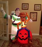 Gemmy Prototype Halloween Toy Story Woody Buzz Lighyear Inflatable Airbown