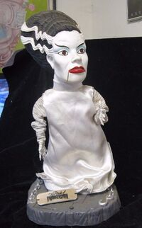 Gemmy Industries Big Head Bride of Frankenstein Animated Monsters Figure