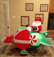 Gemmy Prototype Christmas Plane Inflatable Airblown
