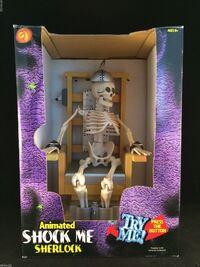 RARE Shock Me Sherlock Joltin Jack Animated Gemmy Electric Chair Skeleton